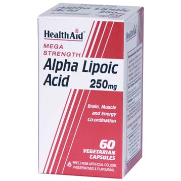 Mega Strength Alpha Lipoic Acid 250mg