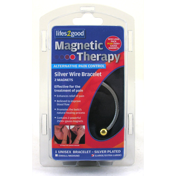 Magnetic Therapy Silver Bangle