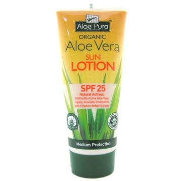Organic Aloe Vera SPF 25 Sun Lotion
