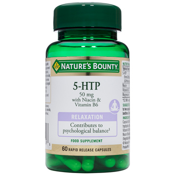 Nature's Bounty 5-HTP 50mg with Niacin & Vitamin B6