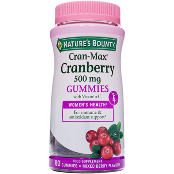 Nature's Bounty Cran-Max Cranberry 500mg Gummes with Vitamin C