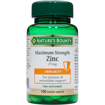Nature's Bounty Maximum Strength Zinc 25mg