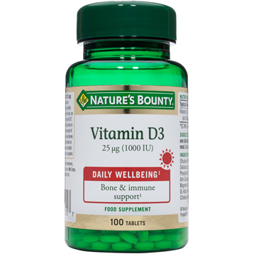 Nature's Bounty Vitamin D3 25mcg (1000 IU)