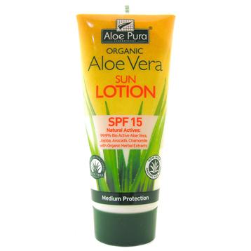 Organic Aloe Vera SPF 15 Sun Lotion
