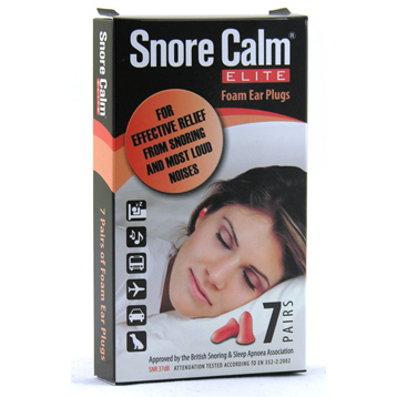 Snore Calm Elite Foam Ear Plugs