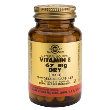 Dry Vitamin E 67mg Vegetable Capsules