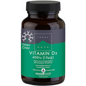 Green Child Vitamin D3 400 iu 50 Vegetarian Capsules