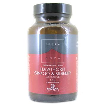 Hawthorn, Ginkgo & Bilberry Super-Blend